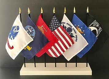 Amazon.com: Fabricado en EE.UU. Juego de banderas MILITARES ...