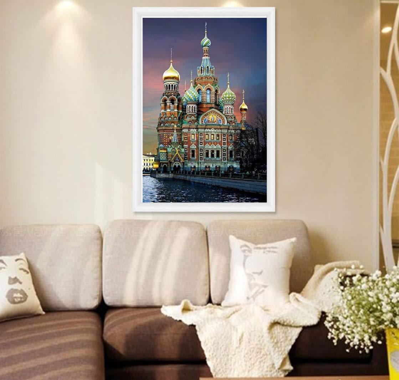 Castle Magic Dream 40x30cm Crystal Full Diamond Rhinestone pintura por n/úmero Kit Decoraci/ón del hogar de punto de cruz bordado Craft DIY 5D Diamante Pintura
