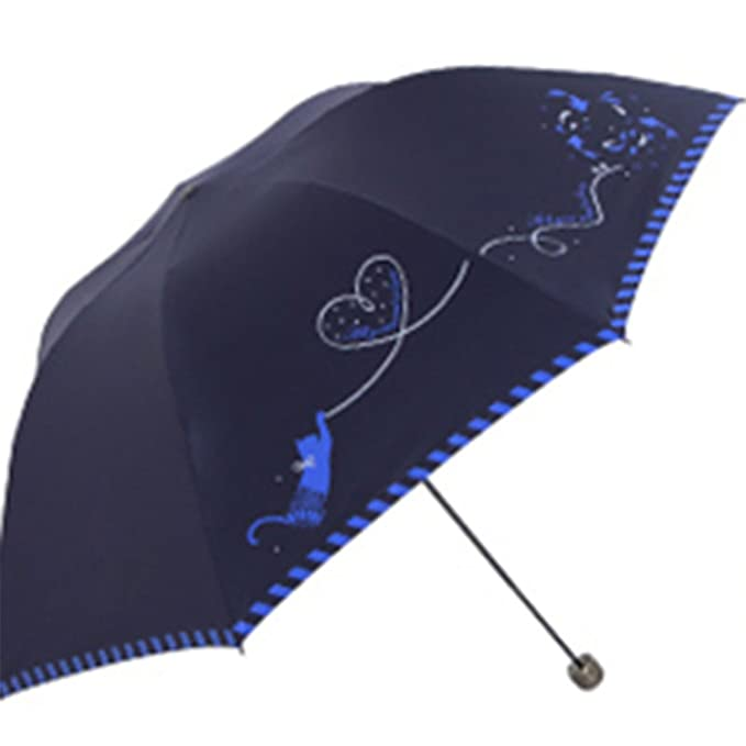 Amazon.com : Reinhar Beach Folding Sun Umbrella UV Protection Women Paraplu Paraguas Hombre Waterproof Sun Big Umbrella Rain Windproof Blue : Sports & ...