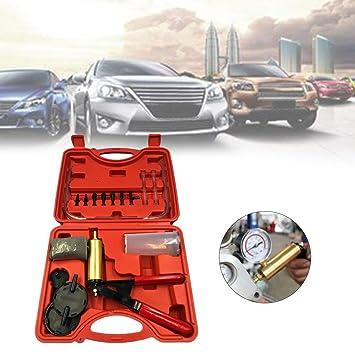 fghdfdhfdgjhh 2 en 1 Auto Car Líquido de Freno Adaptador de Purga Cambio de Aceite Mano Pistola de vacío Bomba Tester Kit DIY para Todos los vehículos: ...