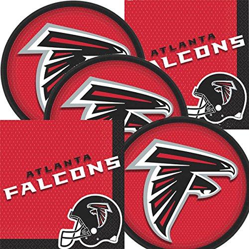Atlanta Falcons NFL Football Team Logo Plates And Napkins Serves -