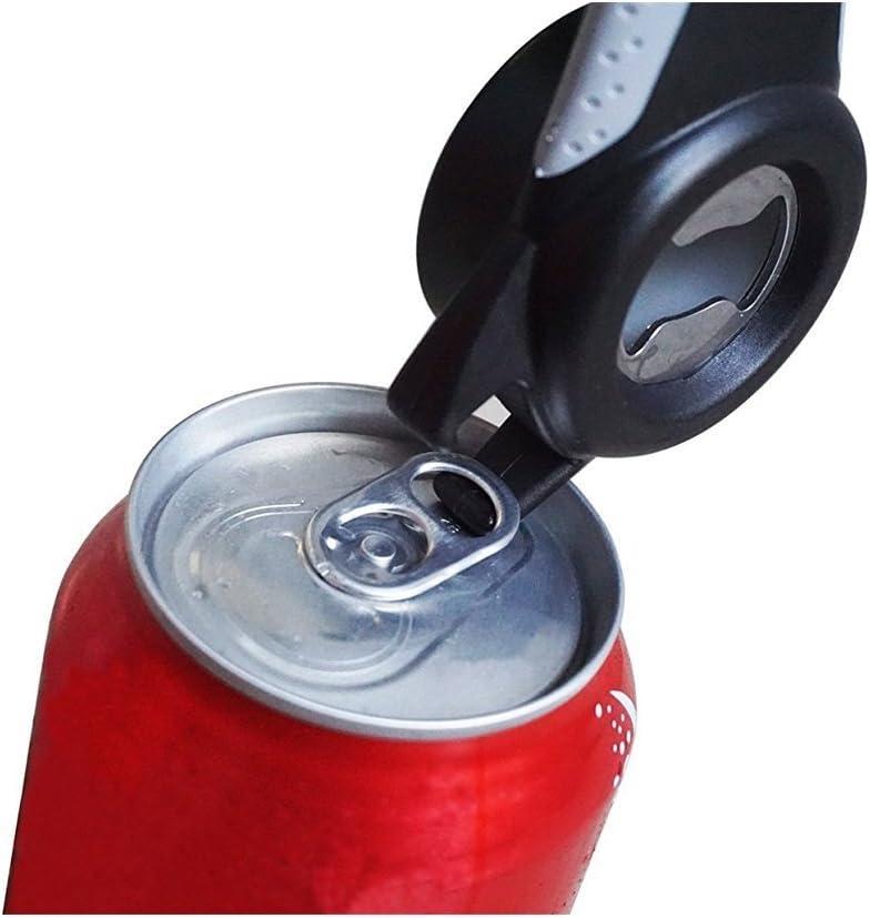 Les canettes Opener Outil de cuisine canettes Ouvre-bo/îte multifonction Pot Housse de protection pour bouteille 5/en 1/Multi-opener pour lunettes de bouteilles canettes manuel Opener Outil Gadget