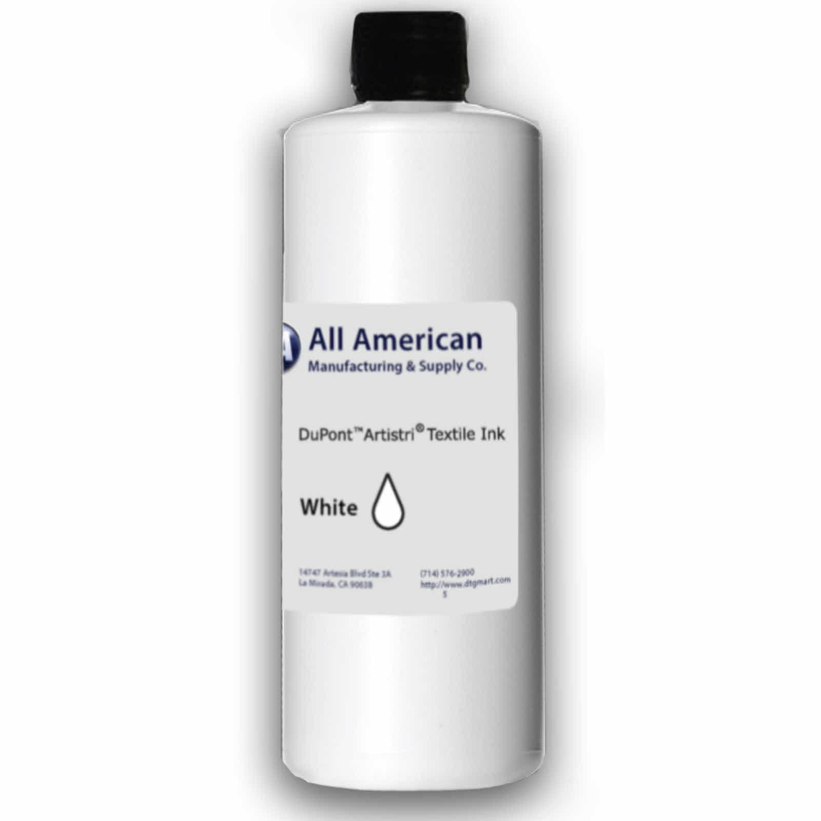 DTG Ink White 1000ml Dupont Textile Ink for Direct to Garment Printers Ink (White) by All American MFG & Supply