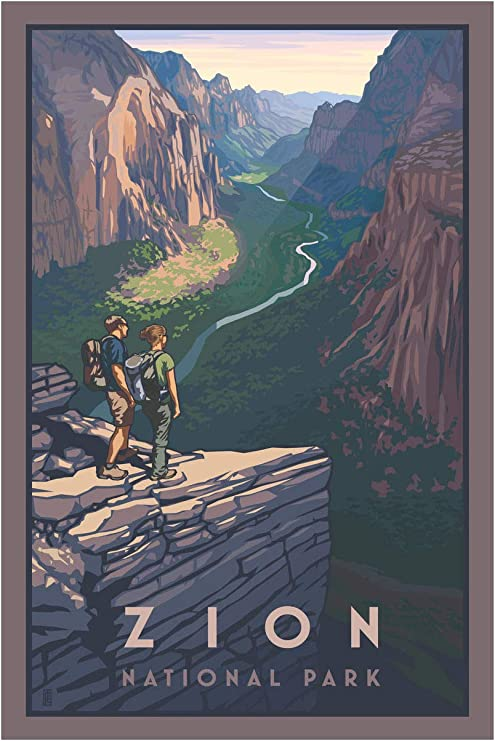 18 By 24 Inch Northwest Art Mall Pb 4669l Zion Canyon Zion National Park Print By Artist Paul Leighton Posters Prints