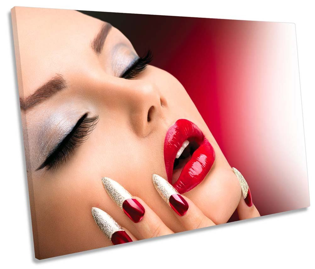 Canvas Geeks - Fashion Beauty Salon Nails Health - 135cm wide x 90cm high SINGLE CANVAS WALL ART Picture Print