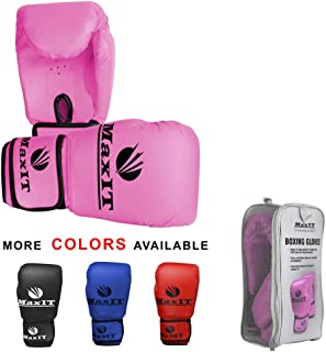 product image for MAXIT Pro Style Boxing Gloves | Padded Odor-Free for Men or Women | Hand Glove Set for MMA, Muay Thai, Sparring, Boxing, Kickboxing, Punching Bag, Training, Fighting Sports