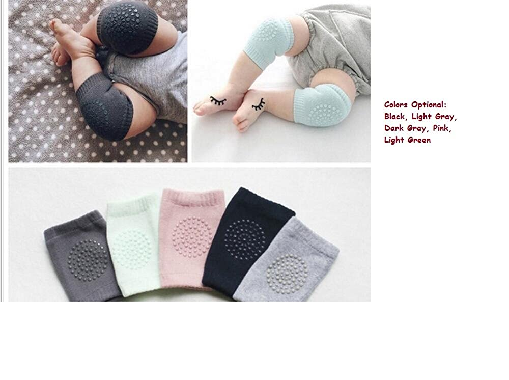5 Pairs Unisex Baby Knee Pads Crawling Anti-Slip Knee Protector Elbow Leg Warmers
