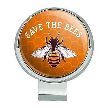 Grafiken und mehr Save the Bienen Honig Golf Hat Clip mit magnetischem  Ballmarker c9638696374b