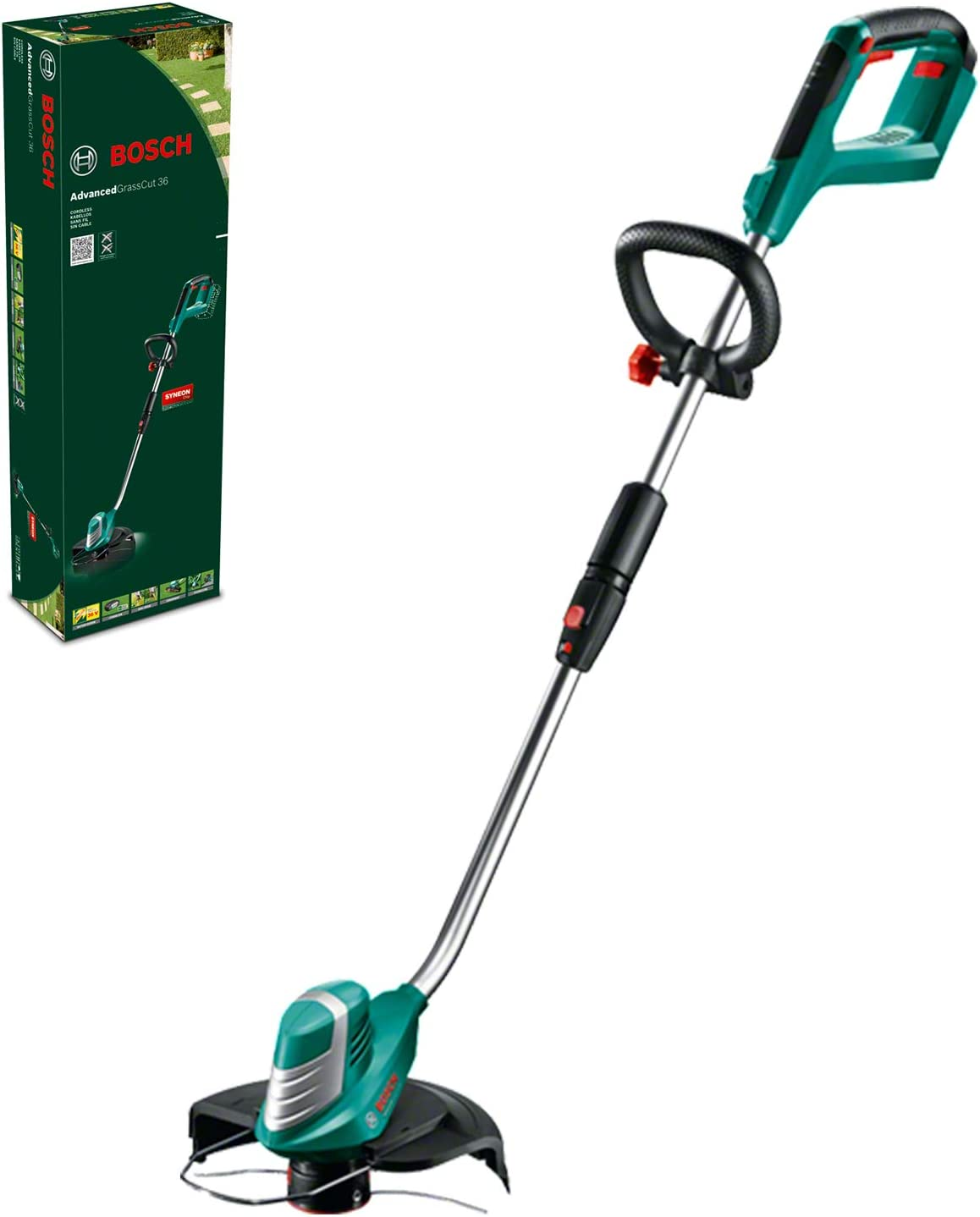 Bosch Home and Garden 0600878N04 Cortacésped, 36 V, negro/verde