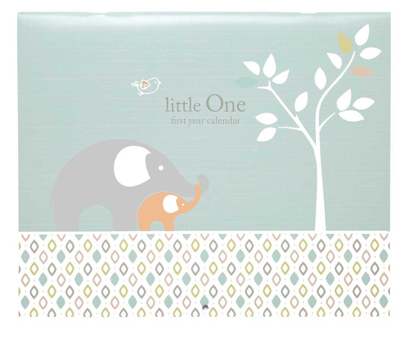 C.R. Gibson Baby's First Year Calendar, Stickers Provided, Measures 11 x 18'' - Linen Tree