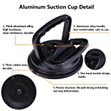 YOOHE Black Aluminum Suction Cup Dent Puller