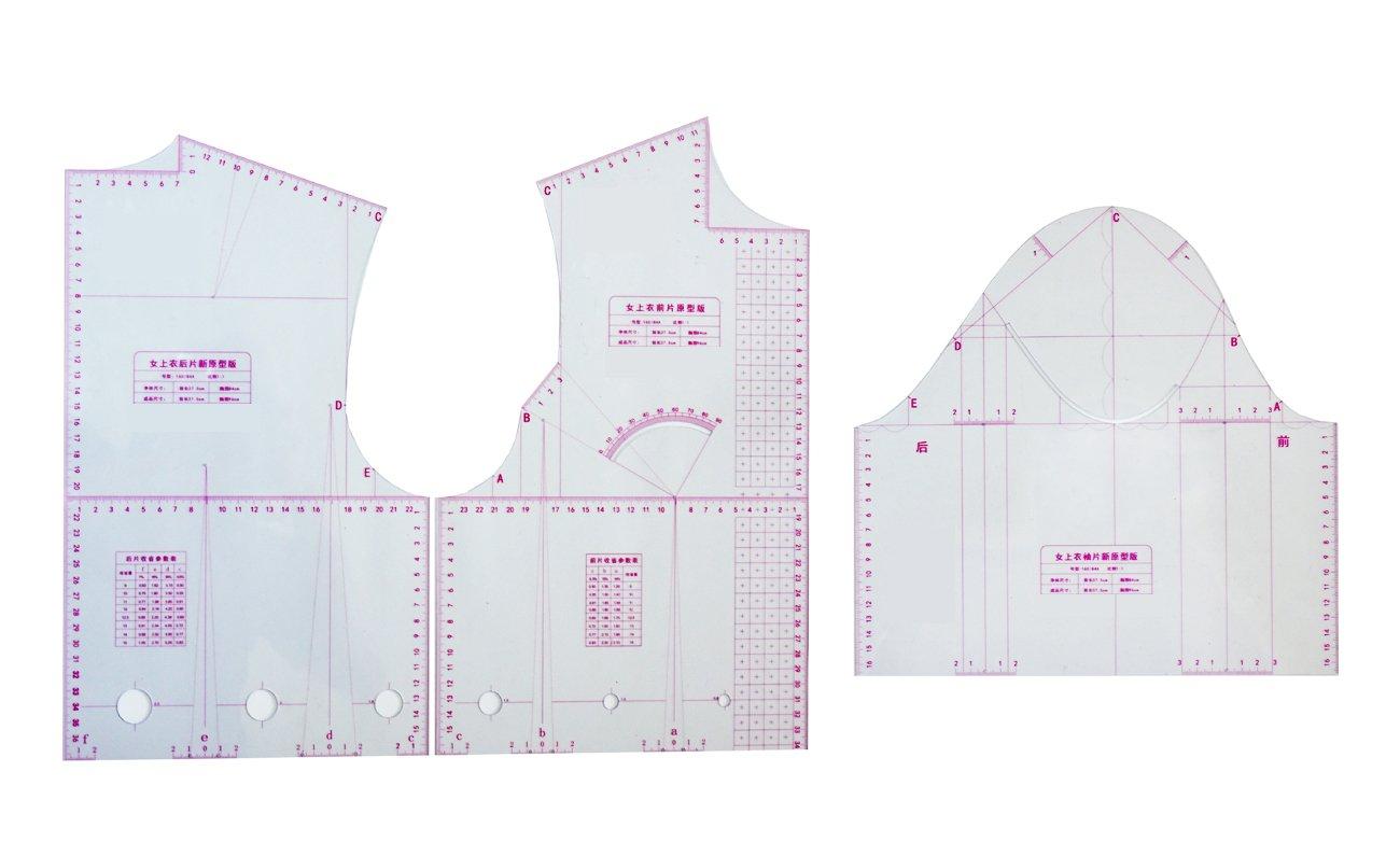 Patrón de corte de Xiehaige escala 1: 1, 3 piezas para la parte ...