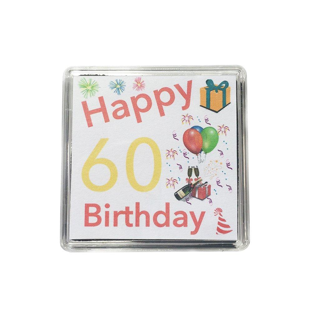 Happy 60th Birthday Gift - Lucky Sixpence Keepsake // Great present idea Hunts England