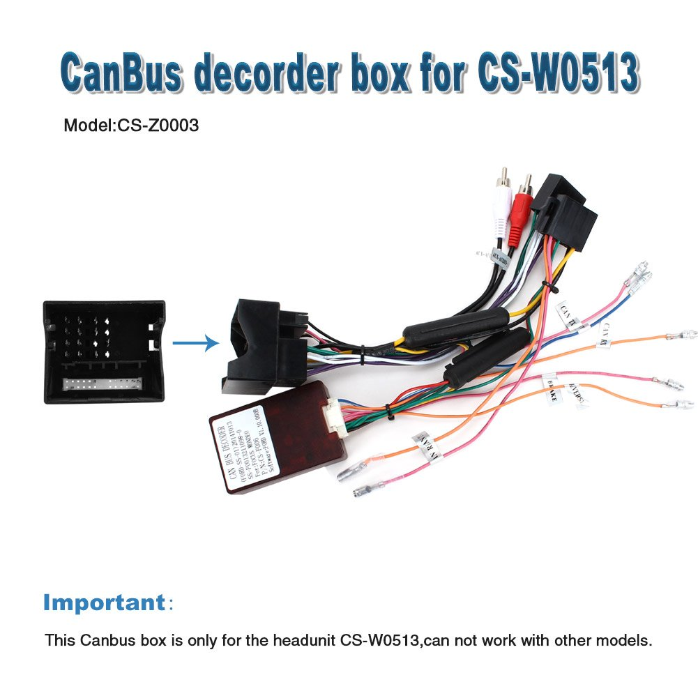 Pumpkin CS Z0003 ISO Lead with Canbus Decoder for: Amazon co uk