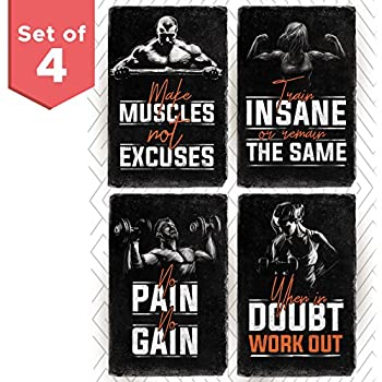 amazon com pyramid america gym feel the burn no excuses workout