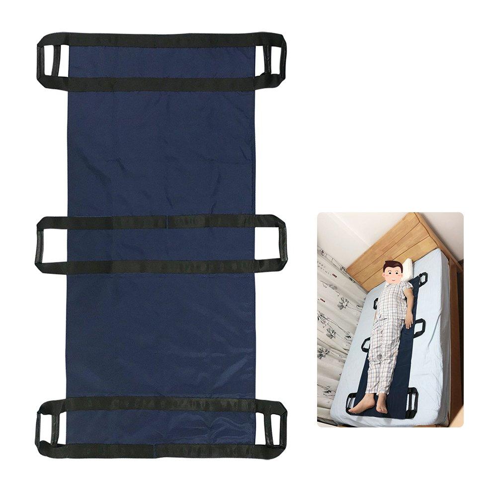 Transfer Boards Belt Slide Patient Medical Lift Sling Transferring Turner Positioning Pad Hospital Bed Draw Sheets for Elderly, Bariatric (Blue)