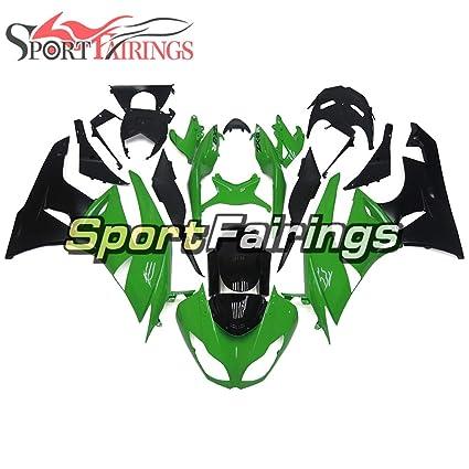 sportfairings Inyección de plástico ABS L.K. rojo verde ...
