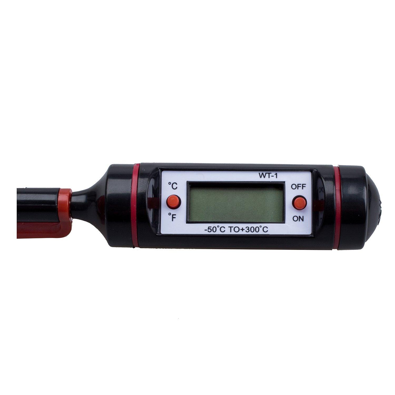 BMYUK Termometro Sonda Digital de Cocina para Comida BBQ Carne Filete Pavo Vino
