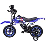 Children's Bicycle Boy Girl Freestyle Bicycle 12 Inch with Flash Assist Wheel & Comfortable Saddle Kids Dirt Bike for 2-9 Yea