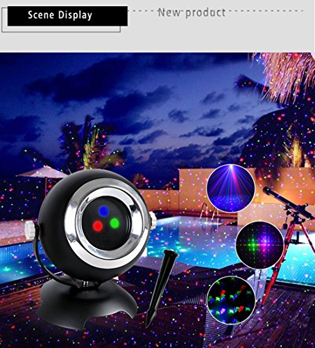 Cheap Landscape lights, Christmas Laser Light, Christmas Projection Light IP65 Waterproof Outdoor Landscape Light RF Remote Control 24 Pattern Dynamic Static Holiday Party Lights(Red / green / blue light)