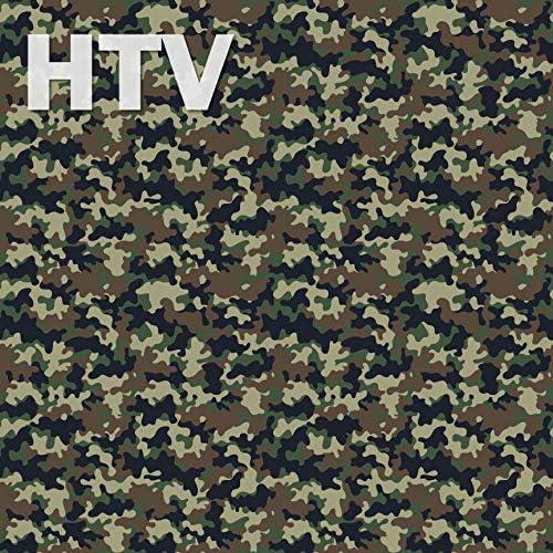 Siser Heat Transfer Vinyl Oracal Adhesive Craft Vinyl- 496 Iron on Vinyl Patterned Vinyl Military Camouflage Pattern Printed HTV