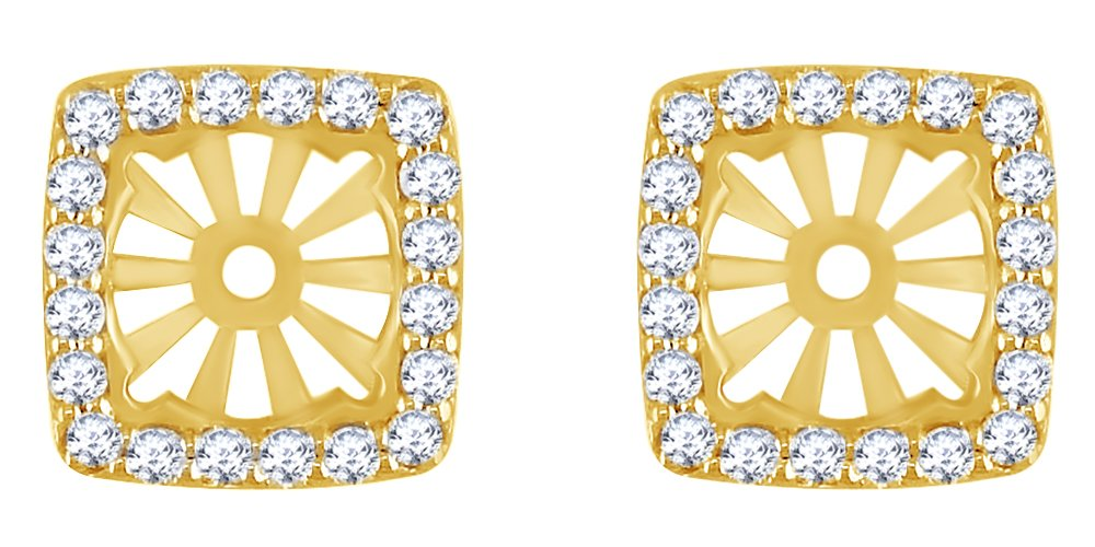 White Natural Diamond Earring Jackets in 14k Solid Yellow Gold (0.60 Cttw) by AFFY