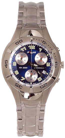 Polar POLAR eXe 3000 Blau 90024117 - Reloj cronógrafo de caballero de cuarzo con correa de