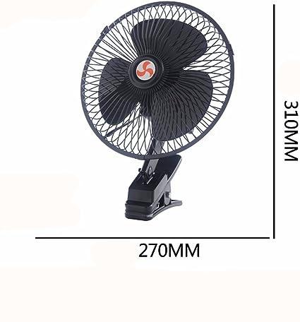 JISHUQICHEFUWU Ventilador de 10 Pulgadas 12 V/Ventilador del Coche ...