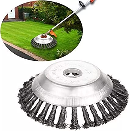 """6/"""" Steel Wire Wheel Brush Grass Trimmer Head Weed Cleaning Garden Lawn Tool 8/"""""""