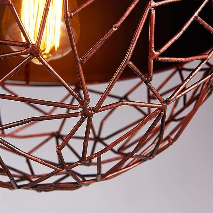 Hierro Vintage Luz Creativa Casa De Campo Pasillo Candelabro Bar Cafetería Loft Dormitorio Apartamento Lavandería Restaurante Balcón Luz Sala De Estar Colgante De Jaula Romántica De Alta Calidad Ø30cm: Amazon.es: Iluminación