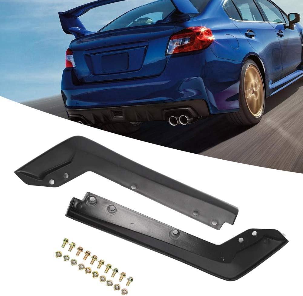 EBTOOLS 2PCS Car Plastic Rear Spat Back Corner Cornerite Plate Rear Bumper Splitter Fit for 2015-2016 WRX STi