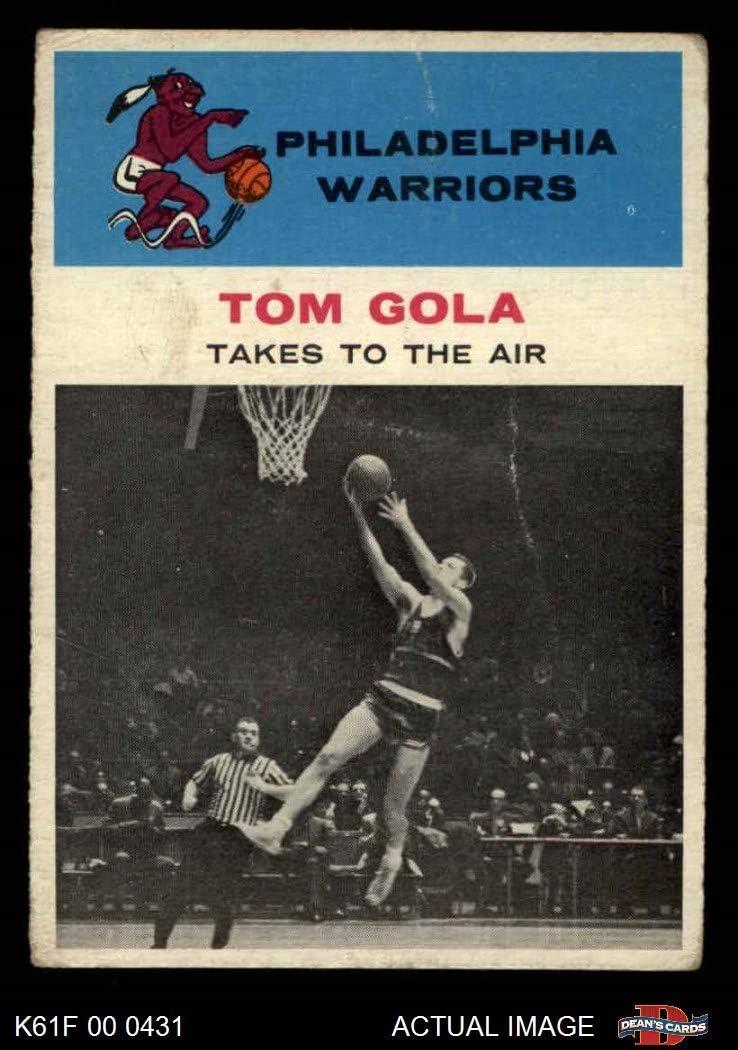 1961 Fleer # 51 In Action Tom Gola Philadelphia Warriors (Basketball Card) Dean's Cards 2 - GOOD Warriors