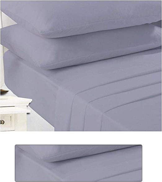 New Small Double 4FT Single Double King super King Bed Poly cotton Fitted Sheets