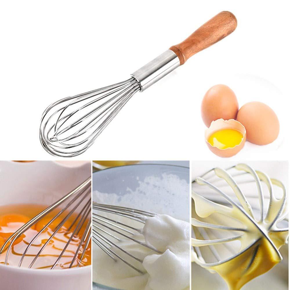 Saying Kitchen Premium Stainless Steel Whisk, Hot Drinks Milk Frother Foamer Mixer Stirrer Egg Beater