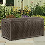 Suncast Resin 73-Gallon Deck Box - Mocha Brown - DBW7300