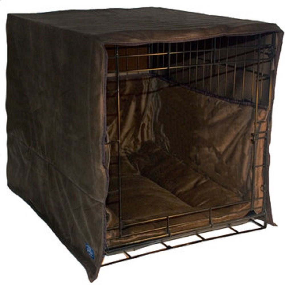New Double Door 3 Piece Crate Bedding Set. THE ORIGINAL CRATE COVER, CRATE PAD AND BUMPER JUST GOT BETTER! Fits Midwest Crate - by Pet Dreams
