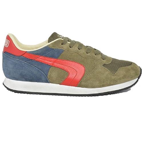 L&S New York Sneakers Uomo Scarpe Sportive Nabuk TEXAS N