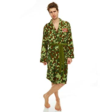 Groovy Uk Mens Only Fools And Horses Rodney Camouflage Dressing Gown ...