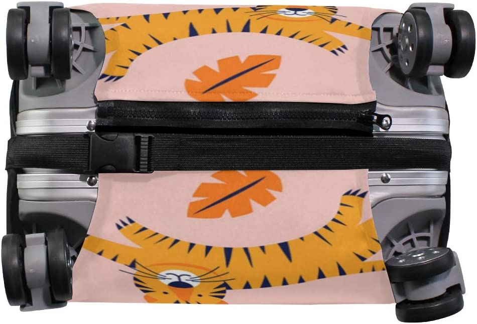 3D Jungle Tiger Print Luggage Protector Travel Luggage Cover Trolley Case Protective Cover Fits 18-32 Inch