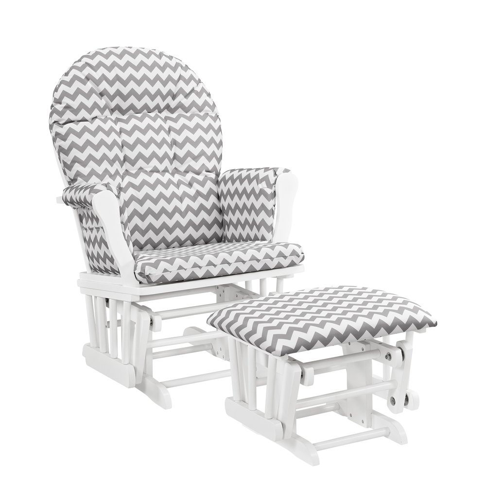amazon com windsor glider and ottoman white with gray cushion baby