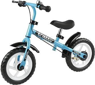 ENKEEO - Bicicleta sin Pedal de 12 ″ con Timbre y Freno de Mano ...
