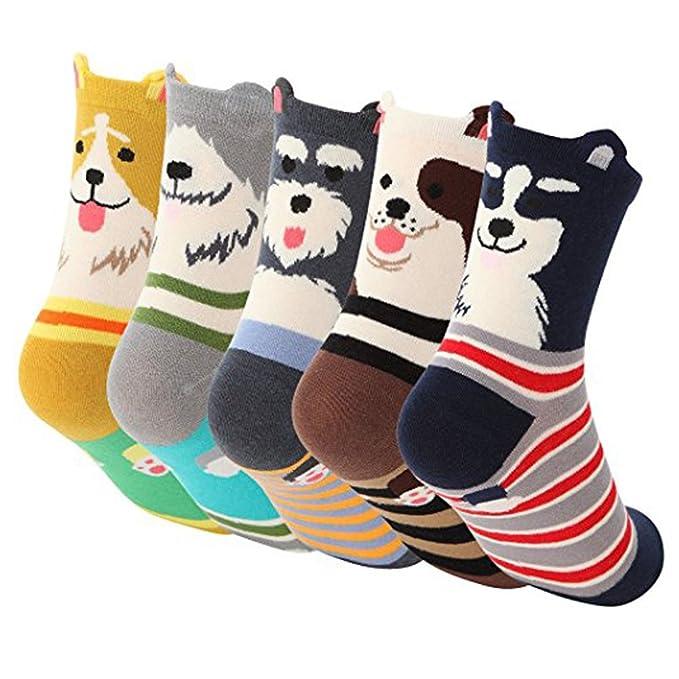 ByBetty Mujer neutral lindo lechuza perro gato patron calcetines de algodon: Amazon.es: Ropa y accesorios