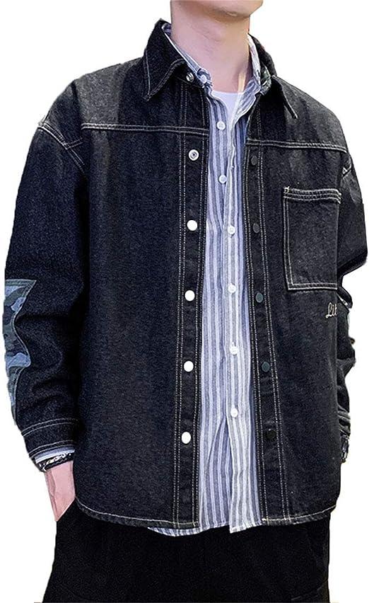 [CAIXINGYI]デニムジャケット スタジャン メンズ ジャケット カジュアル 緩い おしゃれ 秋 韓国版