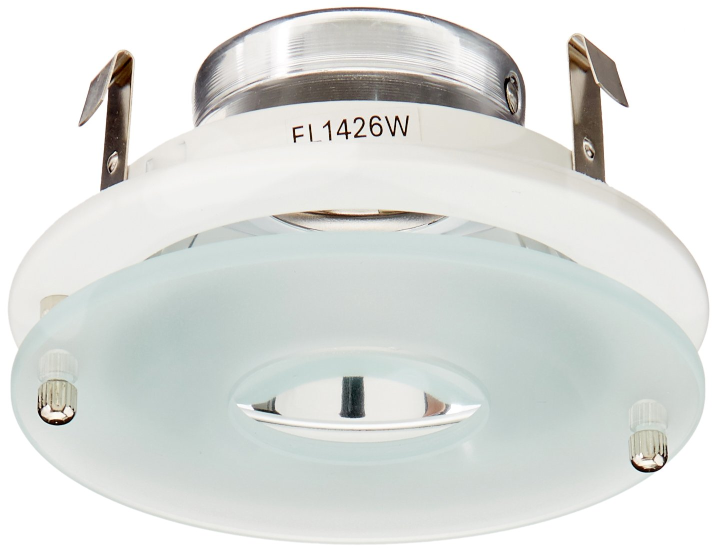 """Elco Lighting EL1426W 4"""" Low Voltage Adjustable Clear Reflector with Suspended Frosted Glass"""