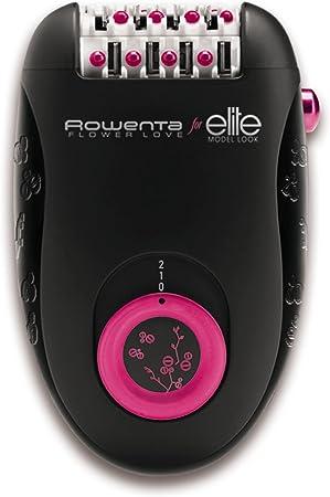 Rowenta Flower Love EP2812F0 - Depiladora 2 en 1 con cabezal ultrapreciso de 2 velocidades y 2 modos de uso, 24 pinzas con rodillo de pedicura ultra exfoliante y un neceser