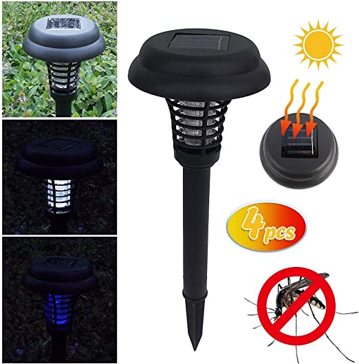 MHJF Repelente Gatos Ultrasonidos Repelente Lámpara De Jardín Solar Powered Jardín Al Aire Libre Luz Led Mosquito Pest Bug Zapper Insect Killer Path Lighting: Amazon.es: Jardín