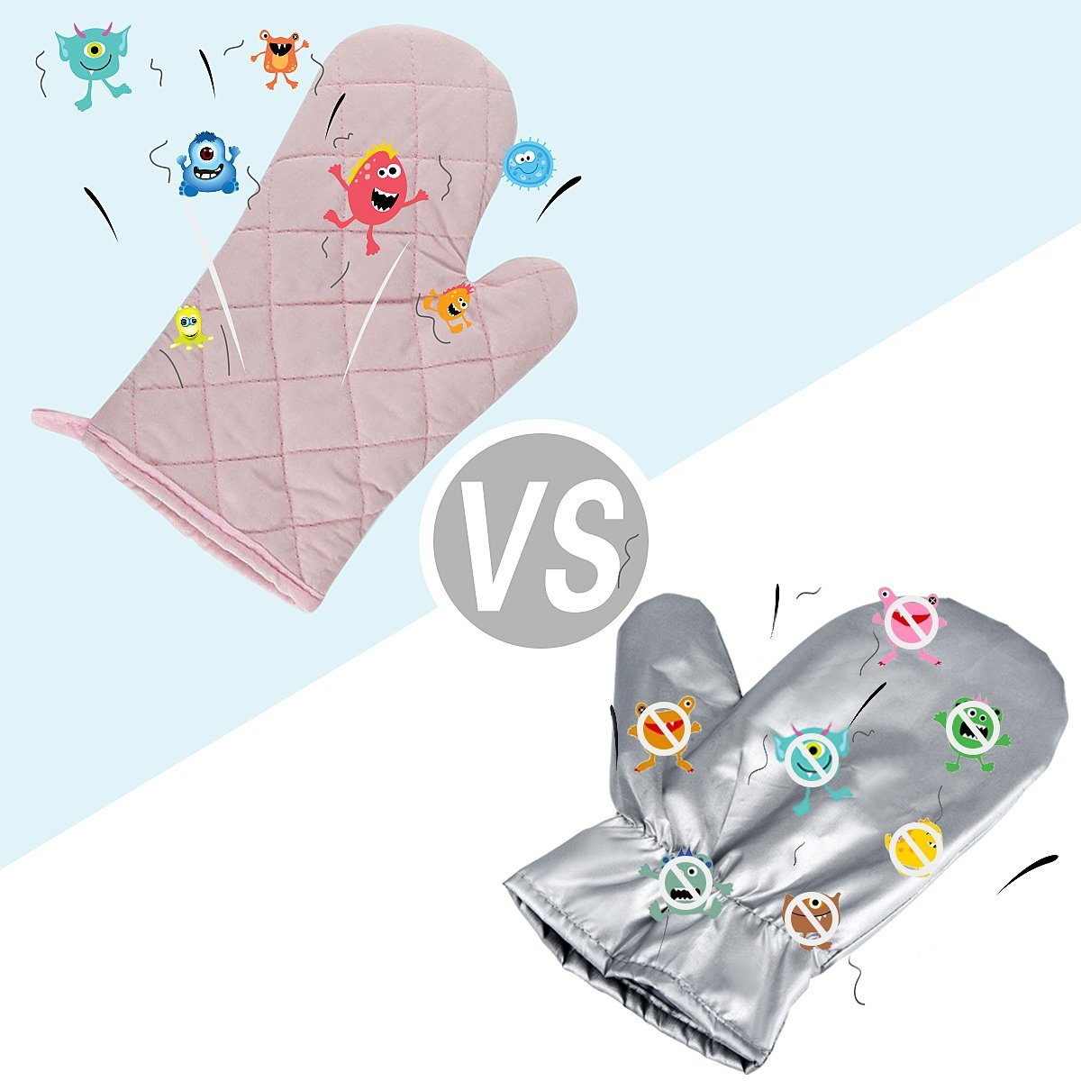 Upgraded Garment Steamer Ironing Gloves Mitt Tingtio Anti Steam Gloves Durable Heat Resistant Waterproof Protective Ironing Glove for Garment Steamer Silver-1 Pair by Tingtio (Image #4)