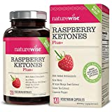 NatureWise Raspberry Ketones Plus+, Advanced Antioxidant & Green Tea Extract for Weight Loss, Appetite Suppression, Organic Kelp, Resveratrol, Vegan, Gluten-Free, 120 count