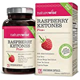NatureWise Raspberry Ketones Plus+, Advanced Antioxidant & Green Tea Extract for Weight Loss, Appetite Suppression, Organic Kelp, Resveratrol, Vegan, 120 count