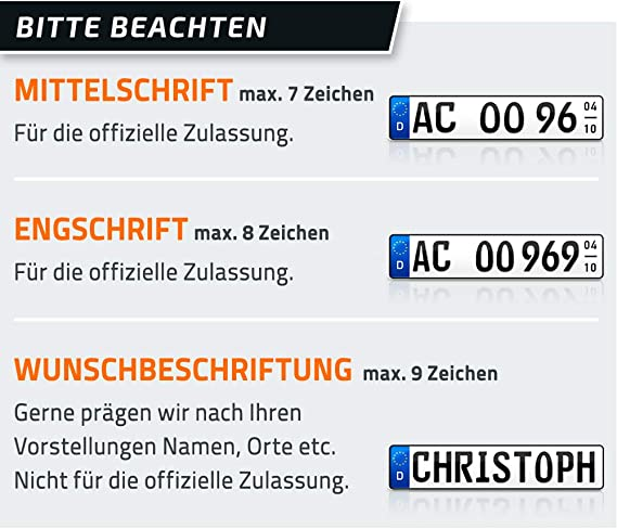 """Schild Autoschild mit dem Namen /""""MIKE/"""" 520 x110 mm reflektierend."""
